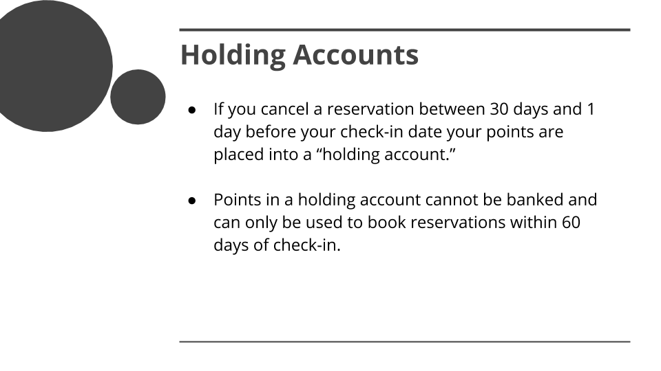 COVID-19 Special DVC Member Rules Overview - Holding Accounts