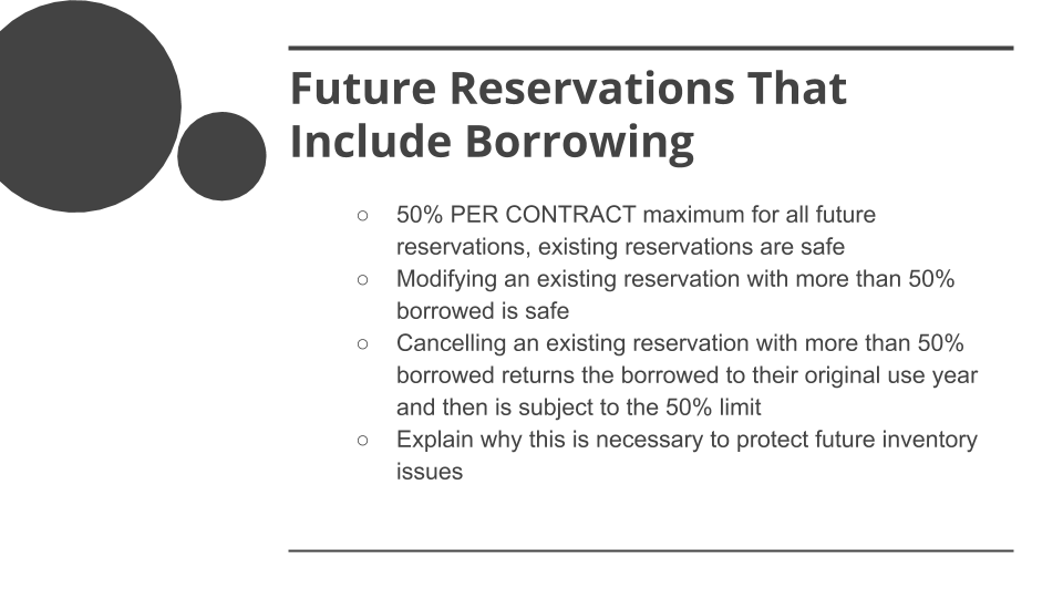 COVID-19 Special DVC Member Rules - Future Reservations including borrowing