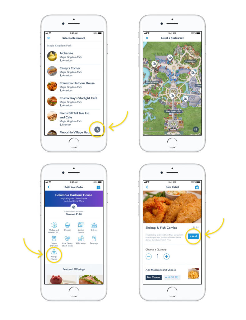 using the my disney experience app to order food