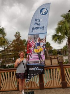 getting ready for a disney running event