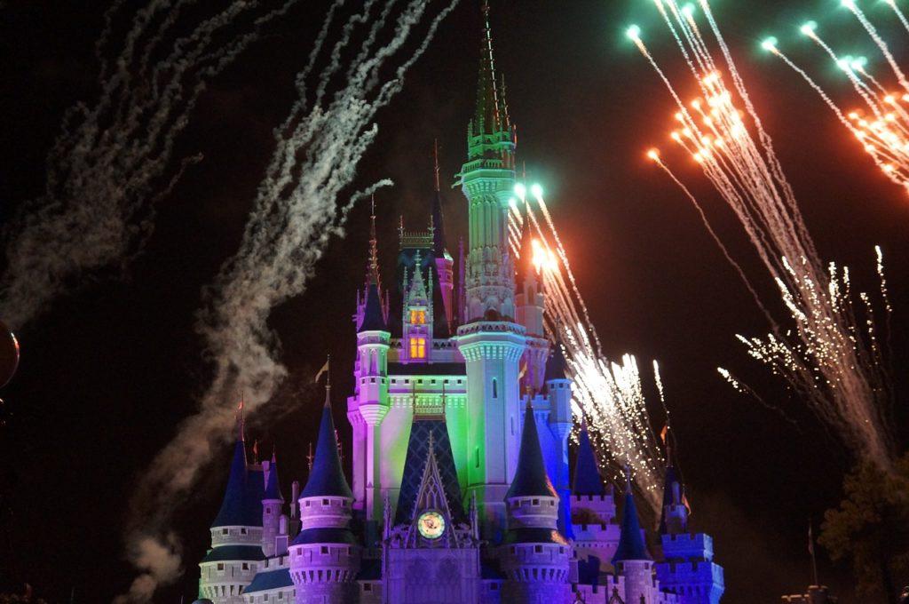 Fireworks Over Cinderella's Castle at Magic Kingdom