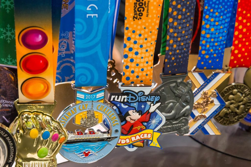 disney marathon medals from past years events