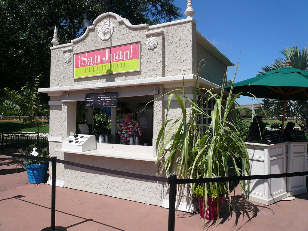 San Juan Puerto Rico Food Booth from 2009 Food & Wine Festival at Disney's Epcot