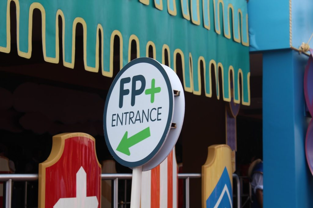 entrance for fast pass holders at a disney park