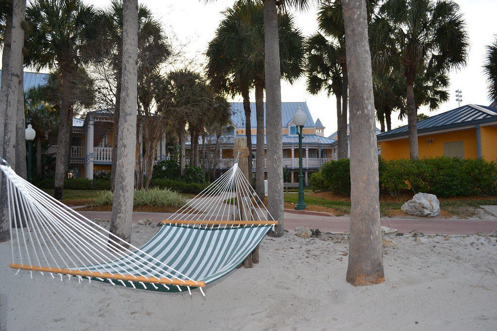 a hammock at one of disney's many resort hotels