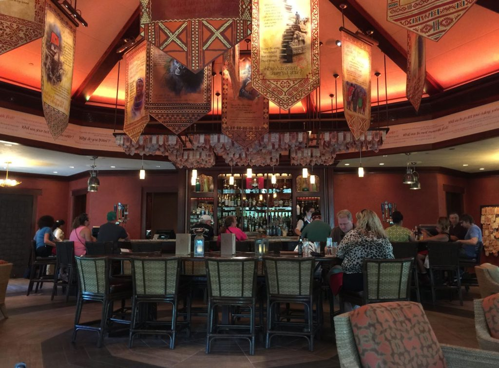 inside decor of the beautifully architected Tiffins Located at Animal Kingdom