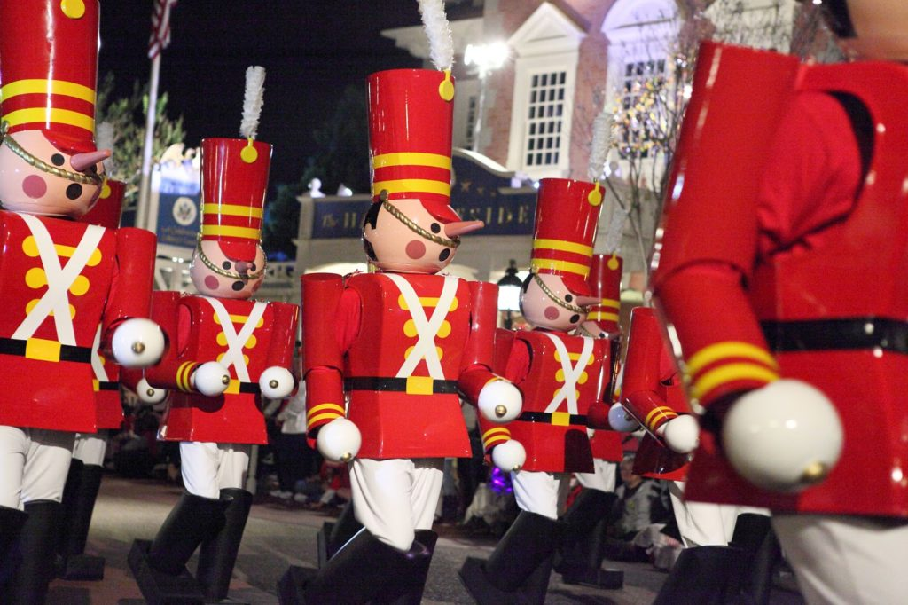 toy soldiers at Mickey's Very Merry Christmas Party