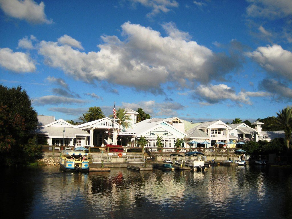 The marina in front of DVC Old Key West Resort