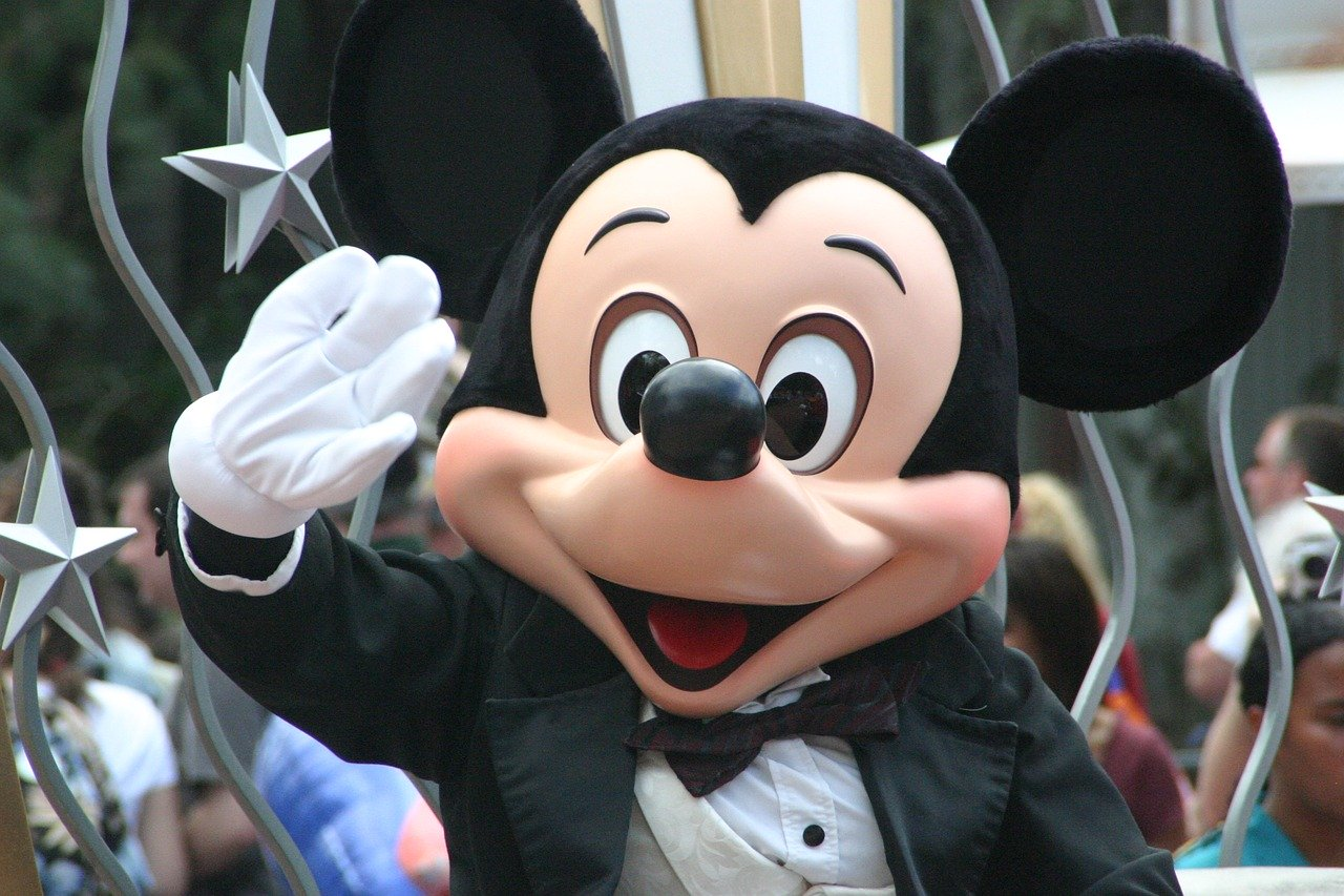 Mickey Mouse Waving to Park Guests at Disney World