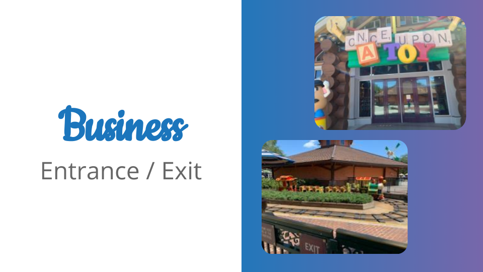 Business Entrances and Exits at Disney Springs