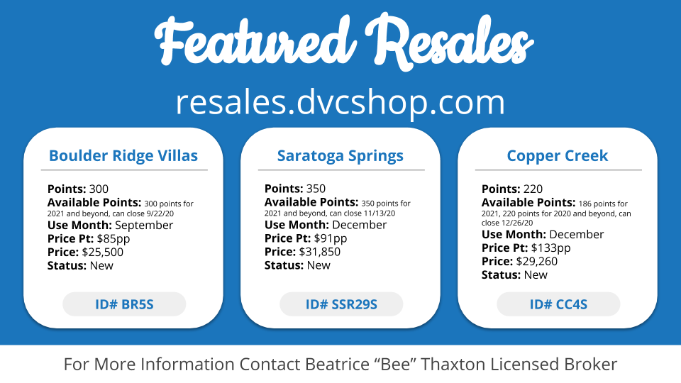 Featured DVC Resales