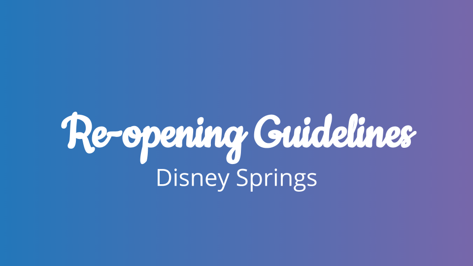Re-opening Guidelines