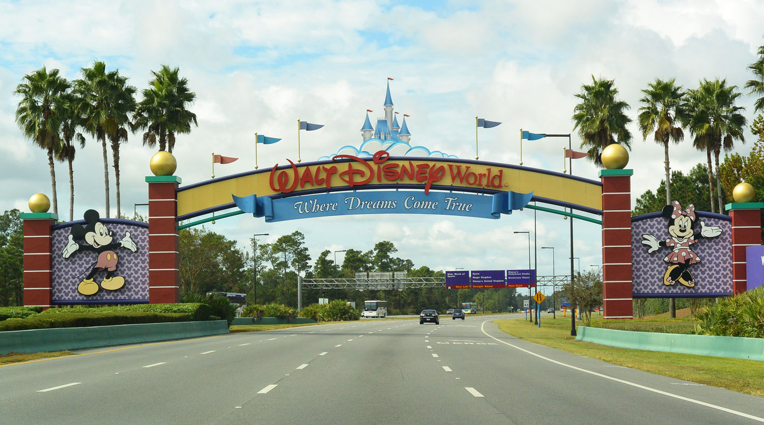 Disney World Resort entrance gate