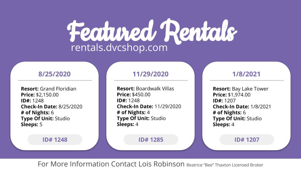 6-1-2020 Featured Rentals