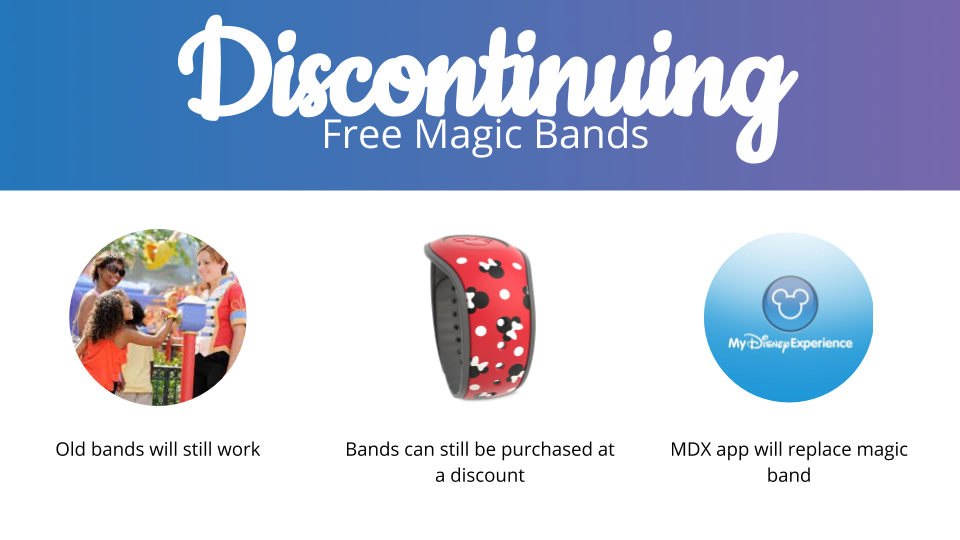 Disney to discontinue free magic bands