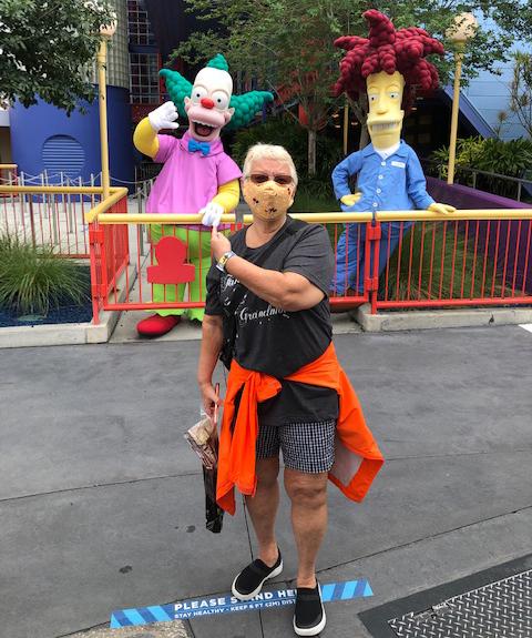 Character photos while social distancing at Universal Orlando reopening