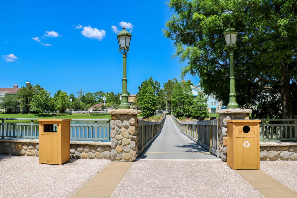 Disney DVC Resort Review Saratoga Springs Resort bridge to Disney Springs