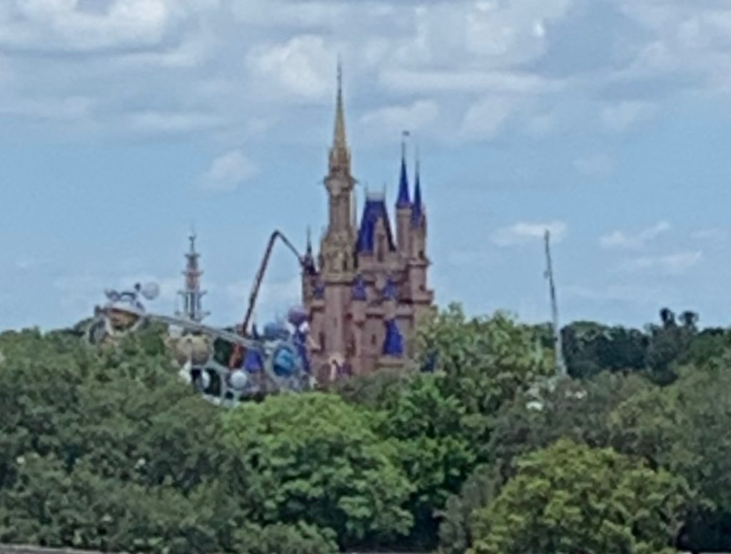 View of Newly Painted Cinderella Castle Magic Kingdom