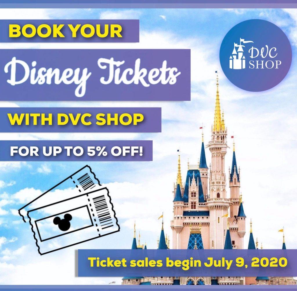 DVC Shop Disney Ticket Promotion