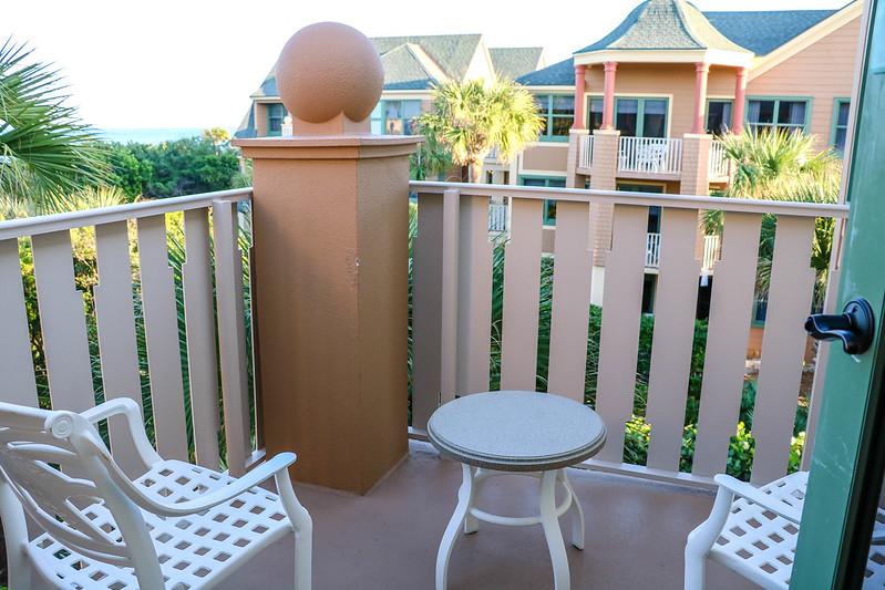 Balcony at Disney DVC Vero Beach Resort