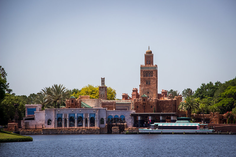 View of Spice Cafe Morocco Epcot Outdoor Dining