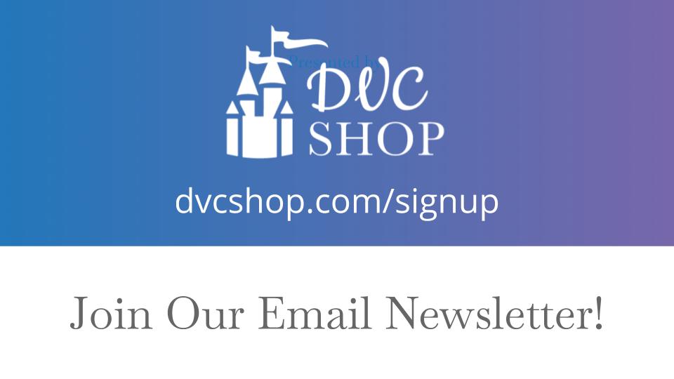 DVC Shop Newsletter Sign Up