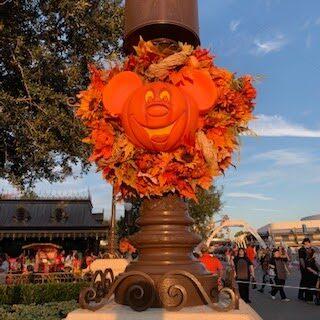 Halloween Decorations at Disney's The Magic Kingdom