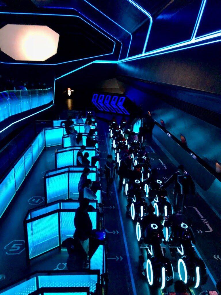 Tron Ride Queue at Shanghai Disney