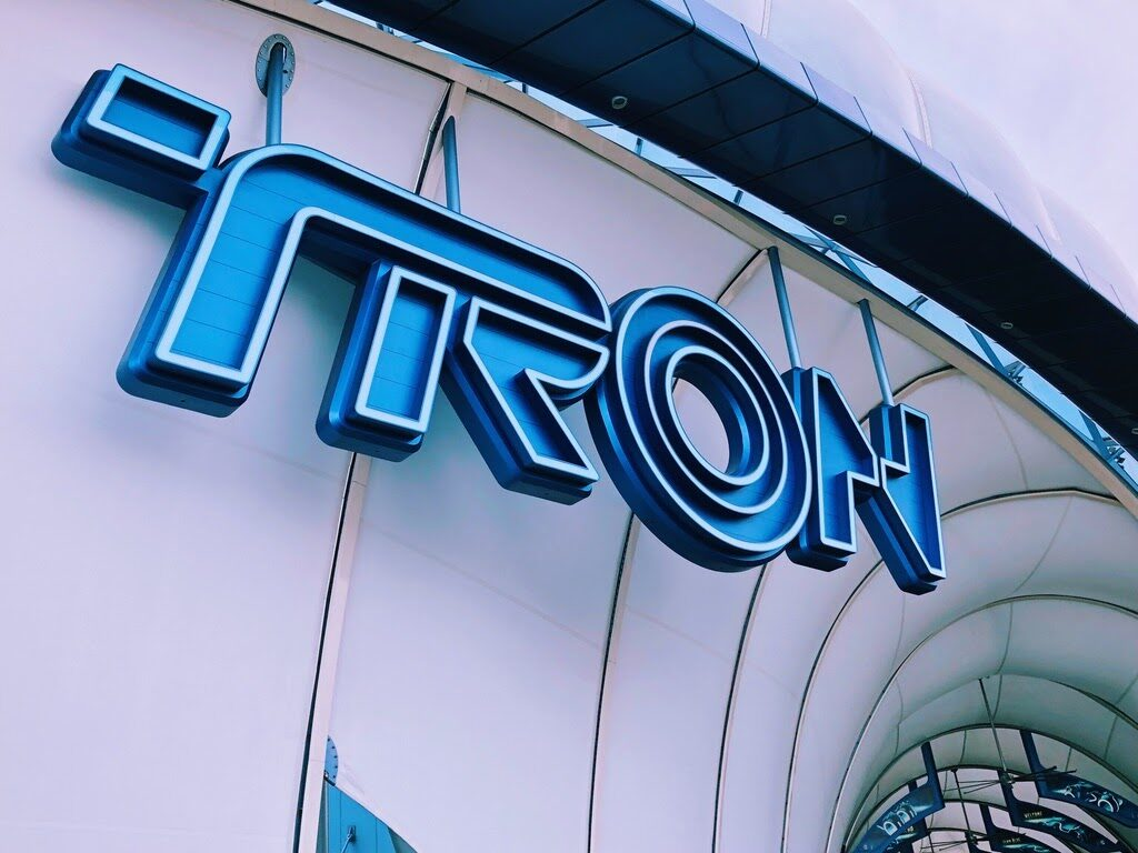 Tron Coaster Sign at Shanghai Disney