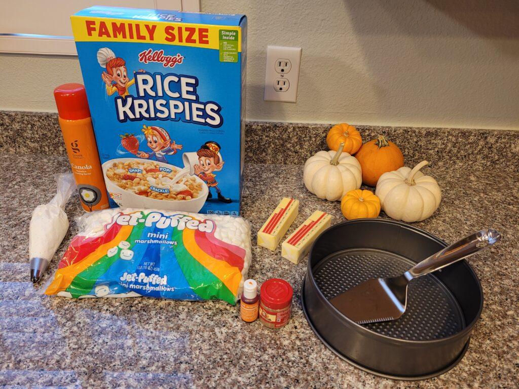 Pumpkin Spice Rice Krispies Treats Ingredients