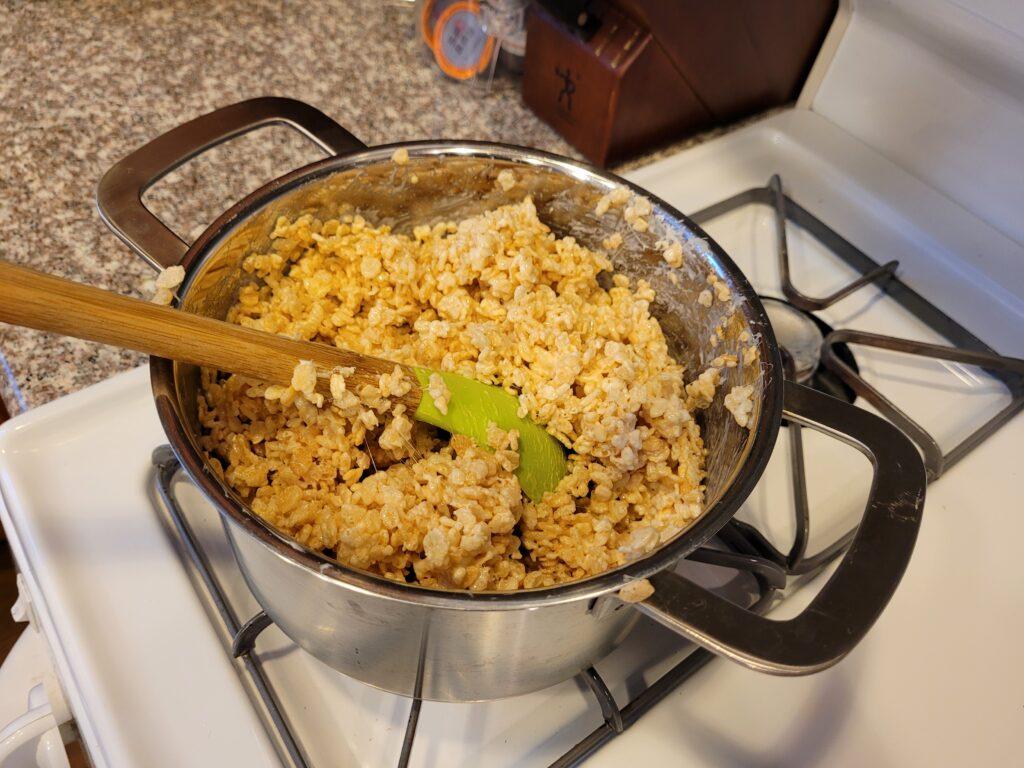 Stir in rice cereal