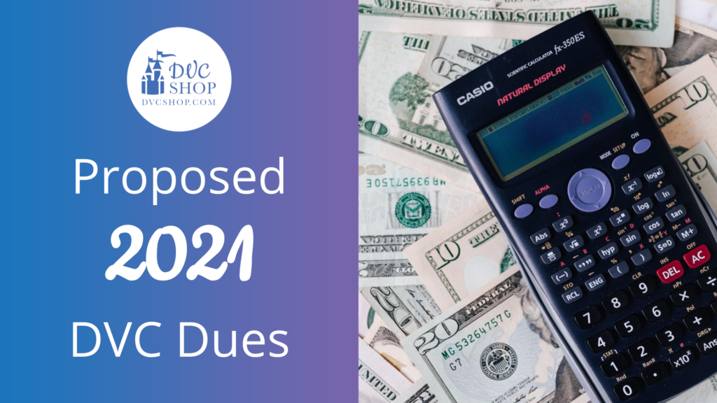 Proposed 2021 DVC Annual Dues
