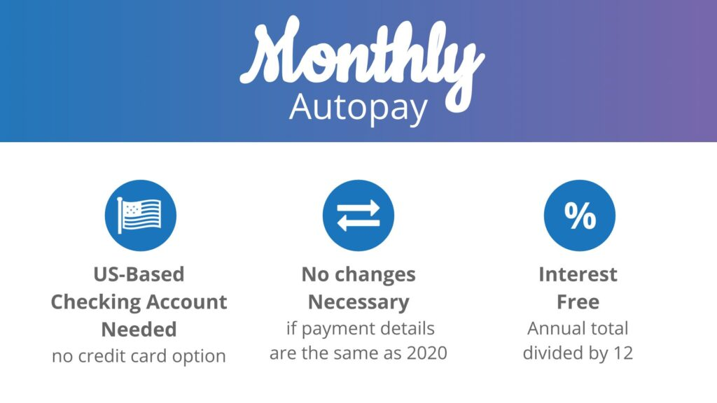 No Credit Card Option for Dues Monthly Autopay