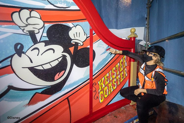 keister slide mickey and friends