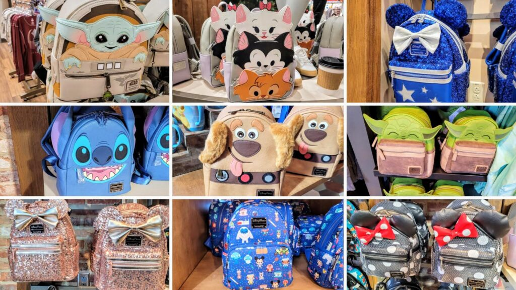 Disney-Themed Loungefly Backpacks at Disney Springs