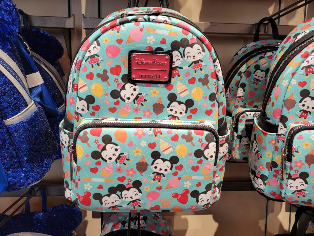 Mickey & Minnie with Treats Loungefly Backpack in World of Disney at Disney Springs