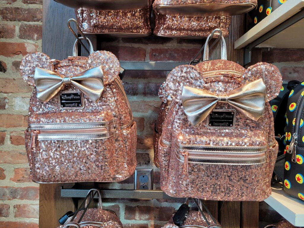 Pink Sequin Minnie Mouse Loungefly Backpack in World of Disney at Disney Springs