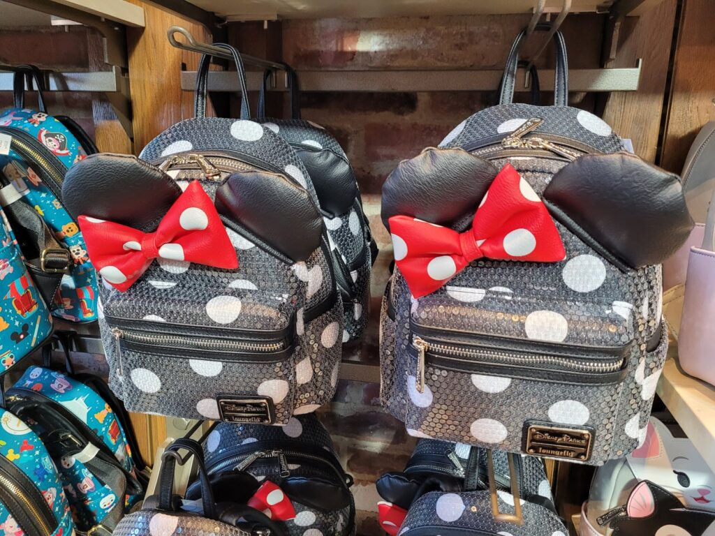 Polka Dot Sequin Minnie Mouse Loungefly Backpack in World of Disney at Disney Springs