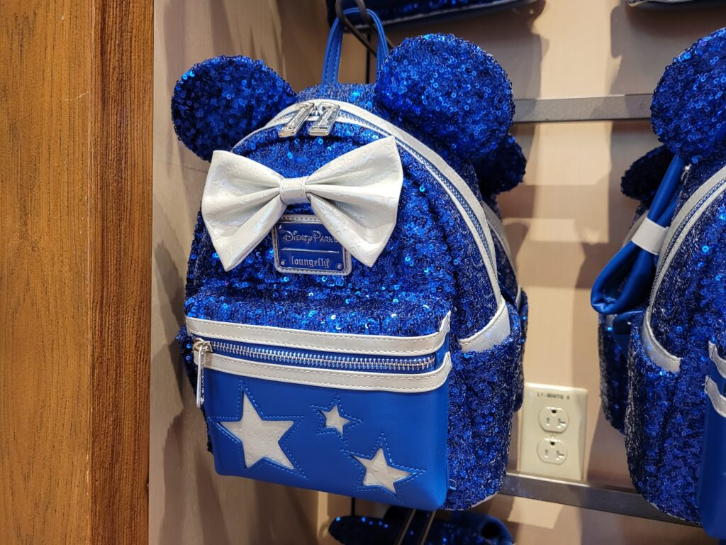 Wishes Come True Blue Loungefly Backpack in World of Disney at Disney Springs
