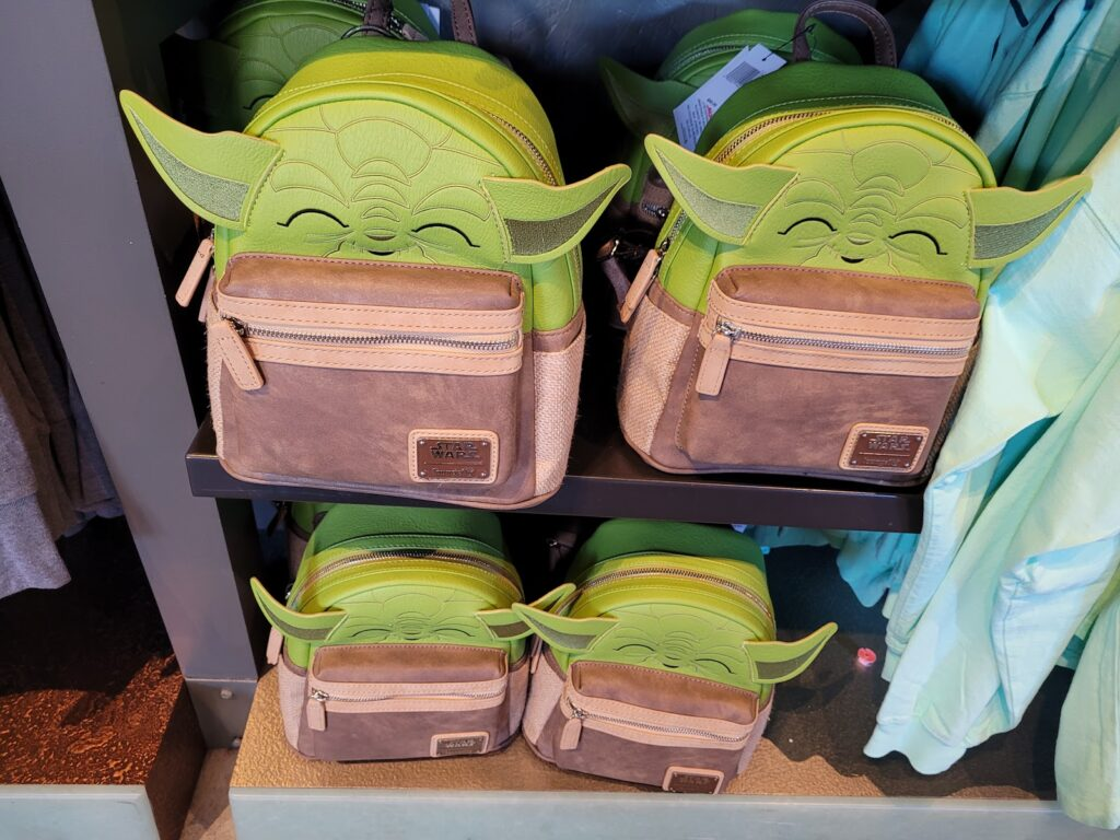 Yoda Loungefly Backpack in World of Disney at Disney Springs