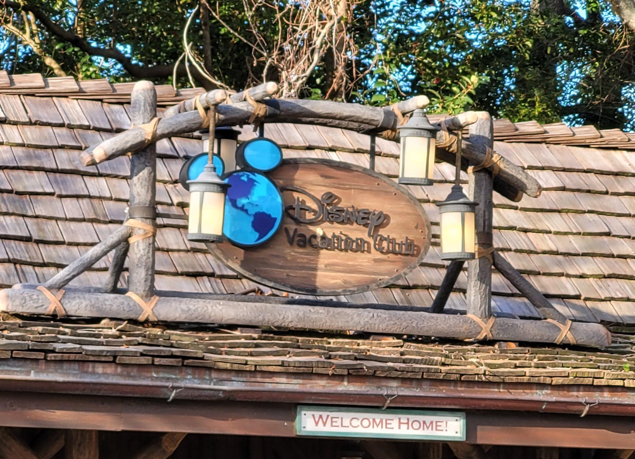 Disney Vacation Club DVC Sign in World Showcase