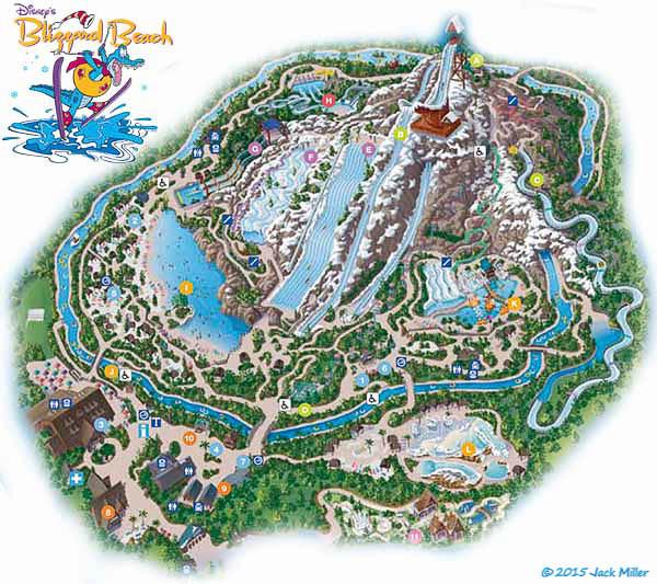 Map of Disney's Blizzard Beach