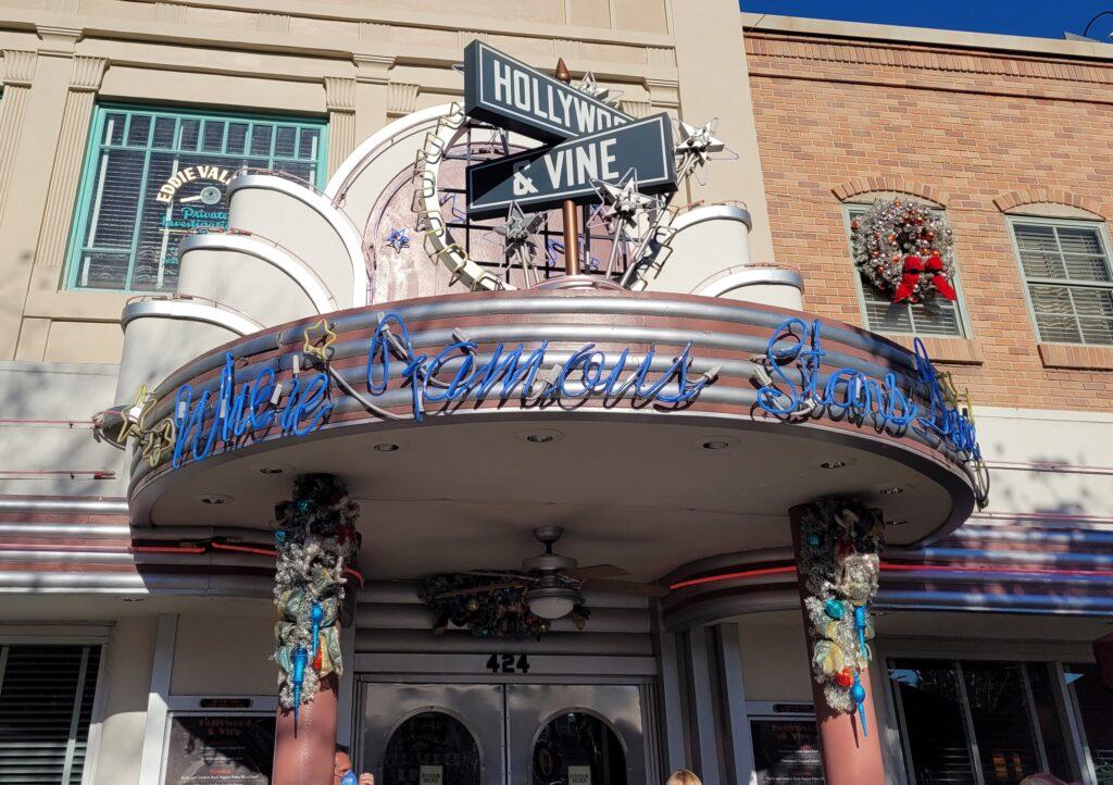 Hollywood & Vine Sign at Hollywood Studios