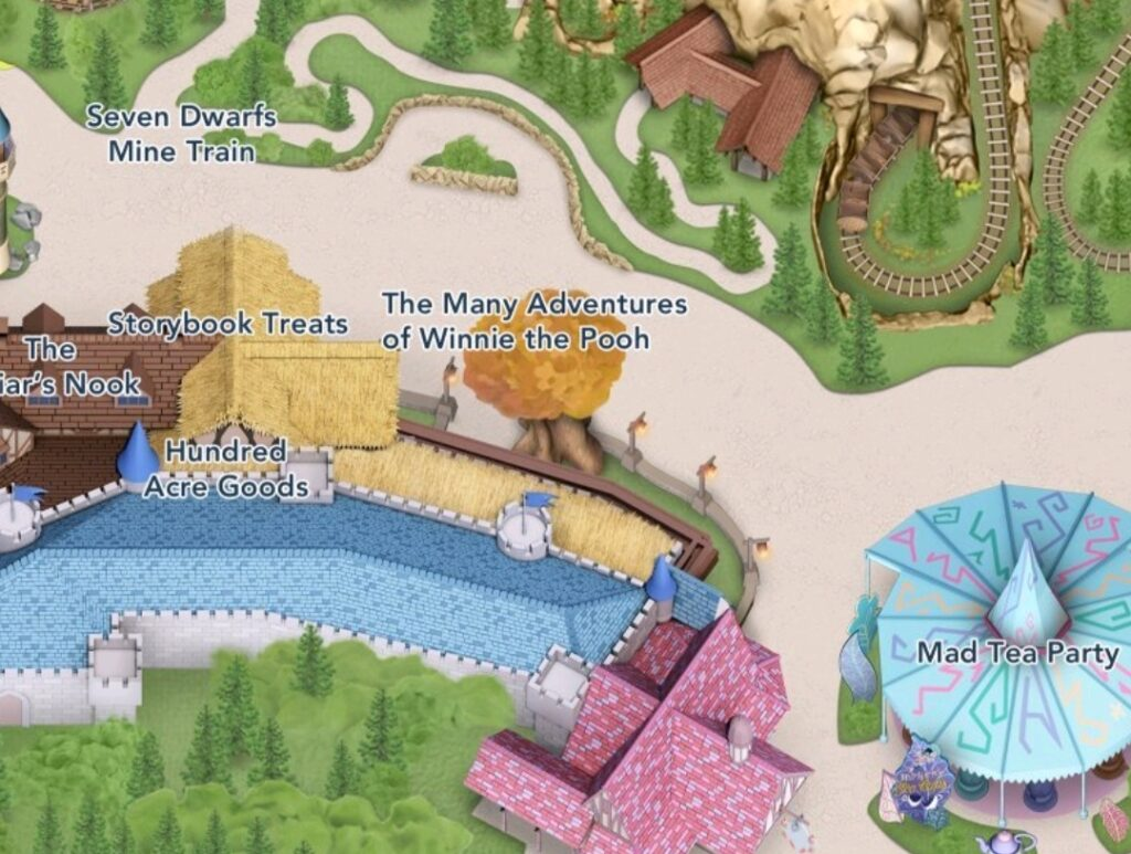 Map of The Many Adventures of Winnie the Pooh
