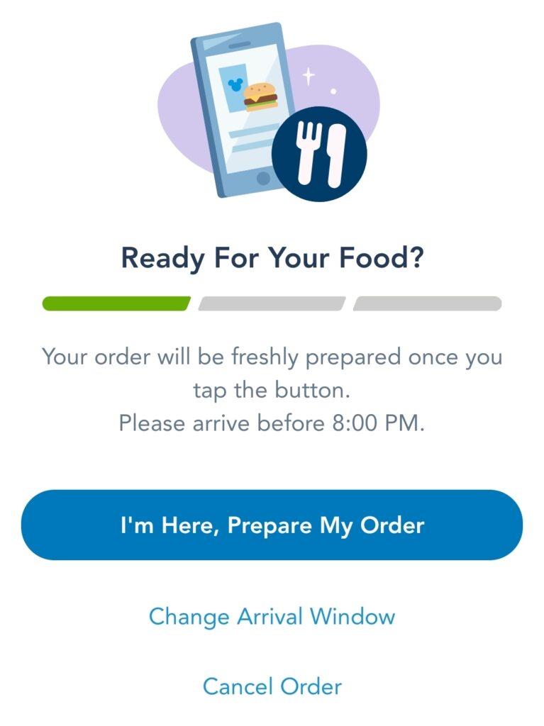 Prepare my order button