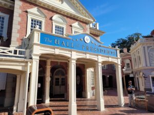 Entrance to The Hall of Presidents