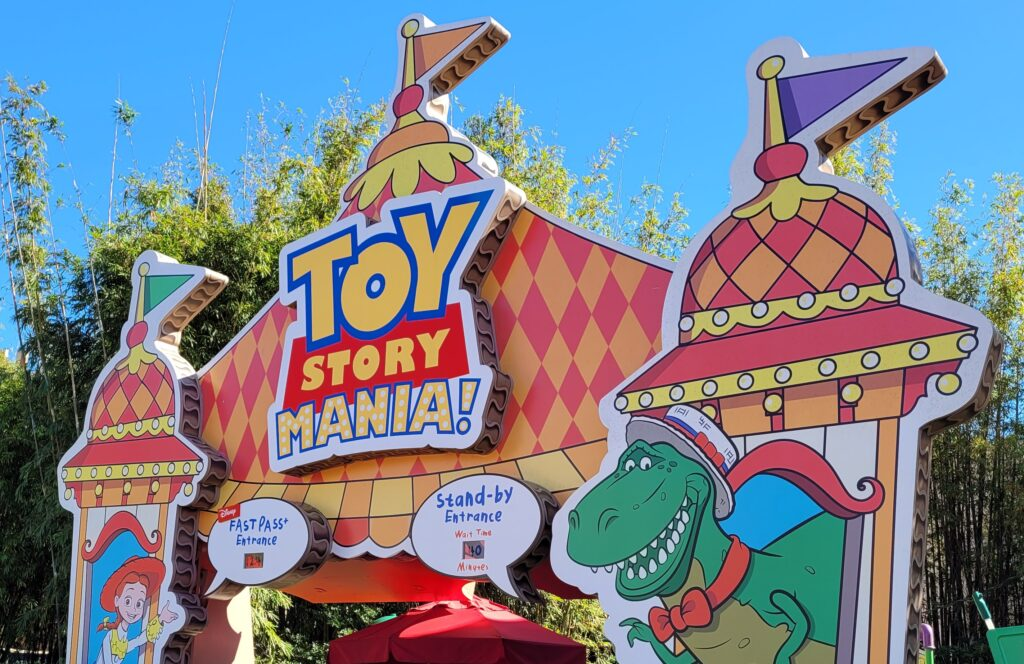 Toy Story Mania! Sign at Hollywood Studios