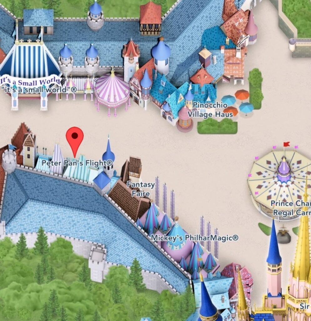 Where To Find Peter Pan's Flight Magic Kingdom Attraction