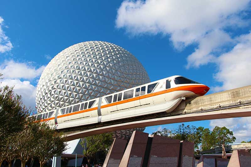 The Monorail at Disney's Epcot