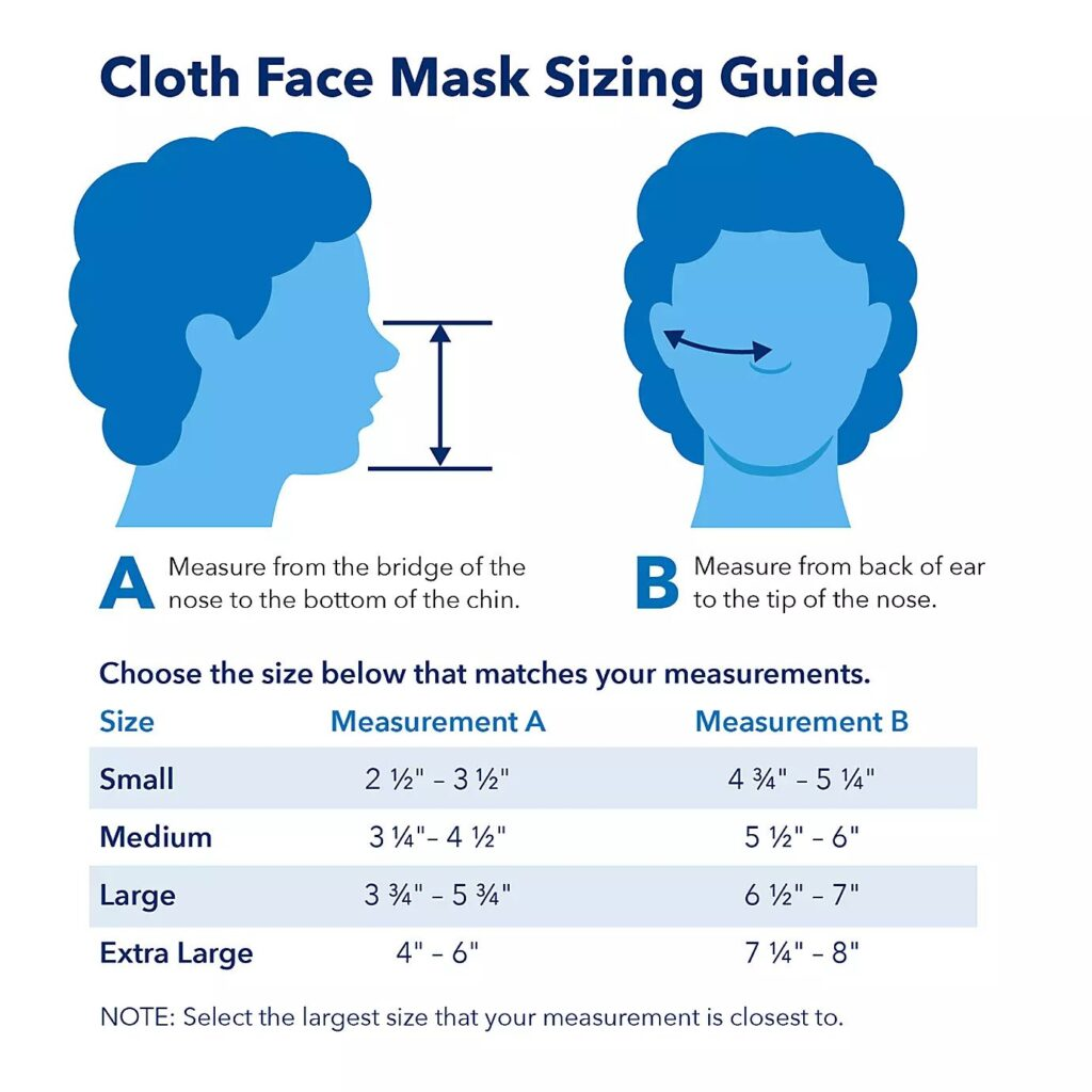 how to measure your face for a mask